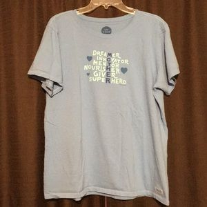 LIFE IS GOOD Blue Mother T-Shirt Size XL